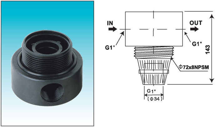SGS ABS / PP tank heads for downflow filter applications