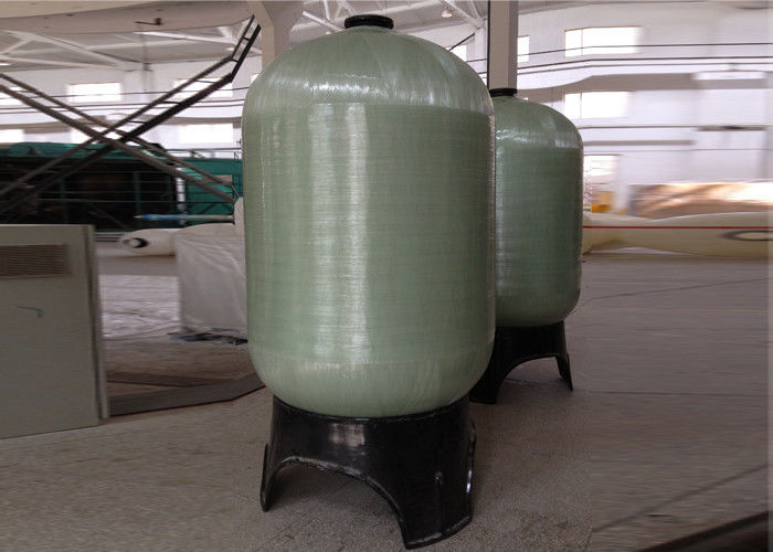 "Grey Industrial Water Filter FRP Pressure Tanks 1.0Mpa Dia. 30"" To 48"""