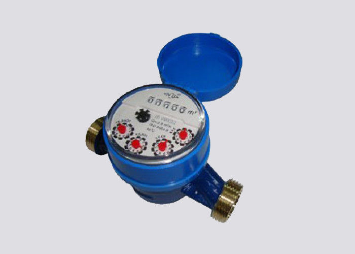 ISO4064 Class B Multi Jet Water Meter For Utility Volumetric Flow Measurement Port 1/2 Inch