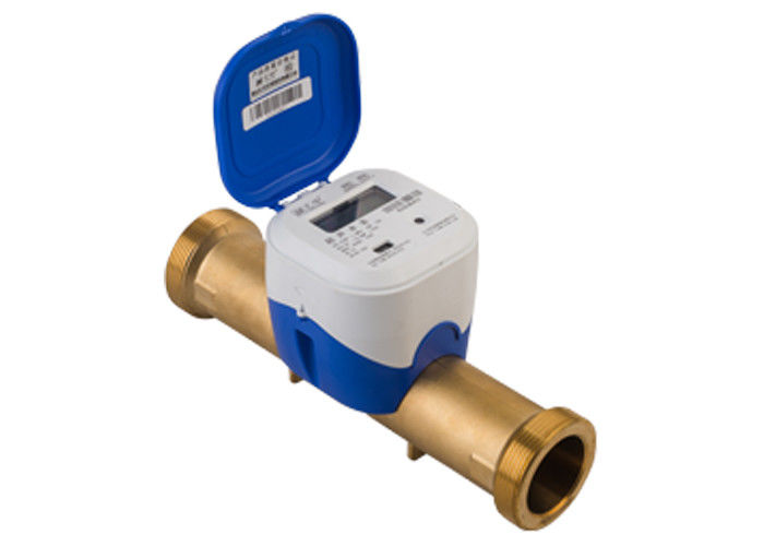 GPRS Wireless Ultrasonic Water Meter , Convectional Type DN25 Brass Tube R500