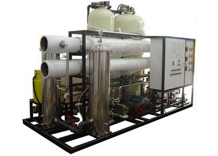 50 m3 / day Brackish Water Reverse Osmosis Systems With ORP controller 5 micron cartridge prefilter